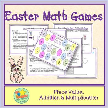 Easter Math Games - Addition, Multiplication and Place Value