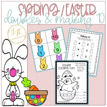 Spring/Easter Themed Data Management, Doubles Math Centers - Number Operations