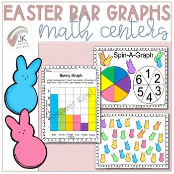 Spring/Easter Themed Data Management Math Center Activities - Bar Graphs