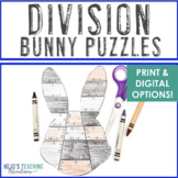 DIVISION Bunny Puzzles   Easter Worksheet Alternatives or Math Games