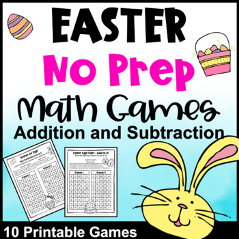 Easter Math Games No Prep: Easter Activities: Easter Math Activities