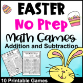 Easter Math Games: No Prep Easter Math Activities Addition and Subtraction Games