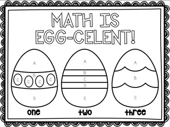 Color by Code Mixed Skill Math Review Easter