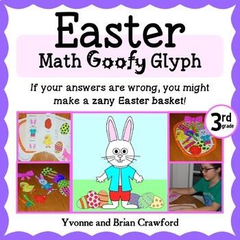 Easter Math Goofy Glyph (3rd grade Common Core)