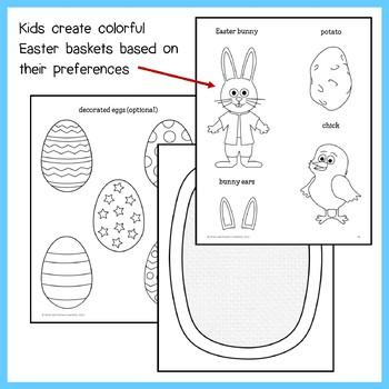 Easter Math Goofy Glyph (5th grade Common Core)