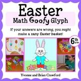 Easter Math Goofy Glyph (6th grade Common Core)