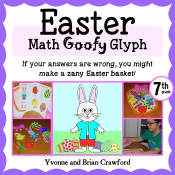Easter Math Goofy Glyph (7th grade Common Core)
