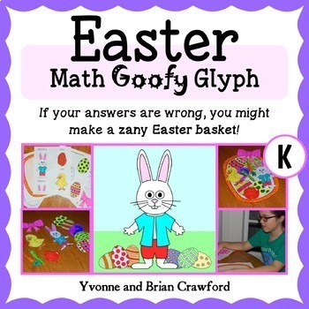 Easter Math Goofy Glyph (Kindergarten Common Core)
