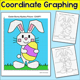 Easter Math Coordinate Graphing Ordered Pairs Bunny Myster