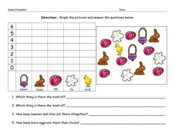 Easter Math Graphing Morning Work Homework Worksheet