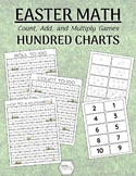 Easter Math - Hundred Charts: Roll, Add, Count, etc.
