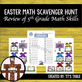 Easter Math Hunt 5th Grade