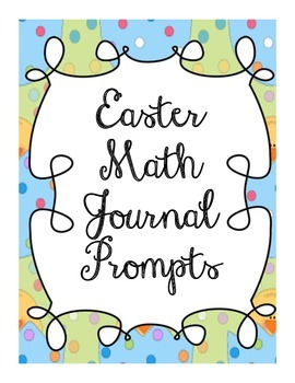 Easter Math Journal Prompts