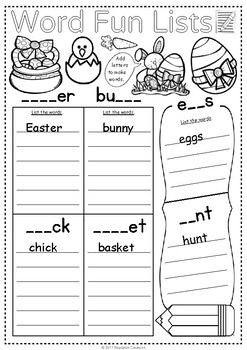 Easter Math & Literacy