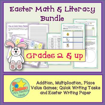 Easter Math and Literacy Activities -Math Games, Writing Tasks and Writing Paper