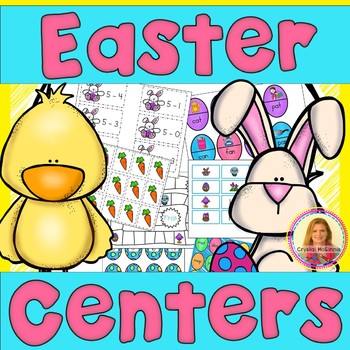 Easter Math & Literacy Centers  (11 Centers for Kindergart