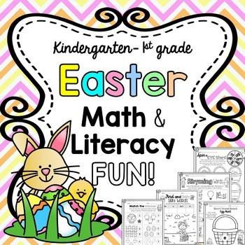 Easter Math & Literacy Fun Packet