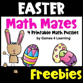 Easter Activities: Easter Math Mazes Freebies