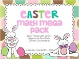 Easter Math Mega Pack (Easter Themed Math Centers for First Grade)