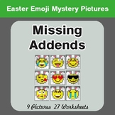 Easter Math: Missing Addends - Color-By-Number Math Mystery Pictures