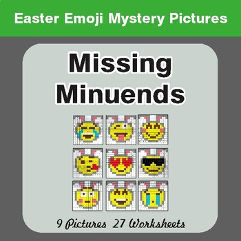 Easter Math: Missing Minuends - Color-By-Number Math Mystery Pictures