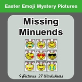 Easter Math: Missing Minuends - Color-By-Number Mystery Pictures
