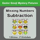Easter Math: Missing Numbers Subtraction - Color-By-Number