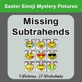 Easter Math: Missing Subtrahends - Color-By-Number Mystery