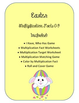 Easter Math Multiplication Bundle. Worksheets. Fact Families. Center. Games