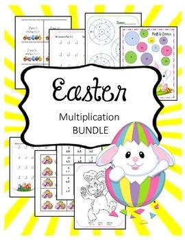 Easter Math Multiplication Bundle. Worksheets. Fact Famili