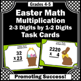 Easter Math Activities, Multiplication Task Cards, 4th Grade Math Review Games