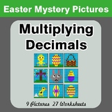 Easter Math: Multiplying Decimals - Color-By-Number Math Mystery Pictures