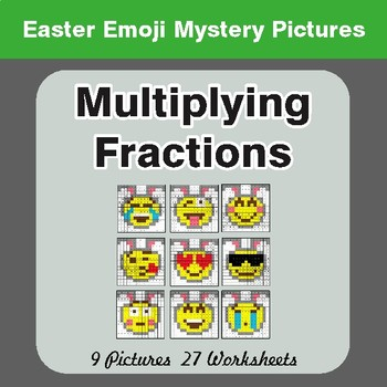 Easter Math: Multiplying Fractions - Color-By-Number Mystery Pictures