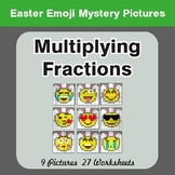 Easter Math: Multiplying Fractions - Color-By-Number Myste