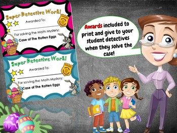 Easter Math Mystery - Case of The Rotten Easter Eggs Grade 4