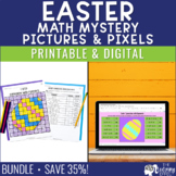 Easter Math Mystery Pictures   Expressions, Powers of Ten, GCF & LCM