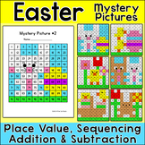 Easter Math Mystery Pictures Bundle - Color by Number