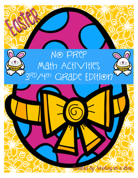 Easter Math - No Prep Packet  3rd-4th Grade Edition