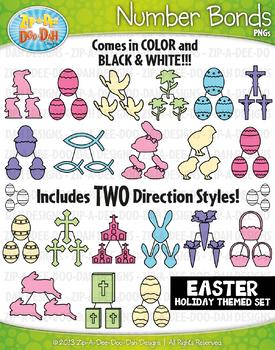 Easter Math Number Bonds Clipart {Zip-A-Dee-Doo-Dah Designs}