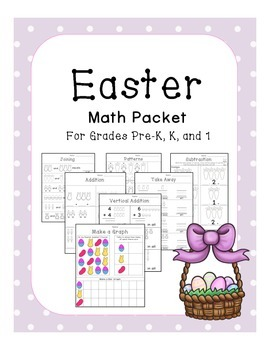 Kindergarten Easter Math Pack