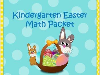 Easter Math Packet For Kindergarten