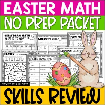 Easter Math Packet - Mean, Median, Mode, Prime Numbers, De