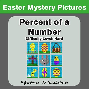 Easter Math: Percent of a number - Color-By-Number Mystery Pictures