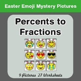 Easter Math: Percents to Fractions - Color-By-Number Myste