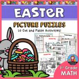 Easter Math Picture Puzzles {1st Grade}