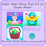Easter Math Pixel Art Multiplication and Division Facts BUNDLE