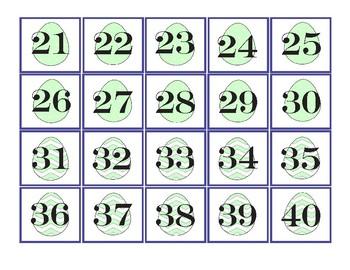 Pocket Chart Number Cards 1-100-Easter Math