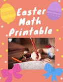 Easter Math Printable Worksheets for Grade 1st and 2nd Grade