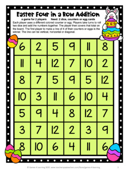 Free Easter Activities: Easter Math Games and Easter Math Puzzle