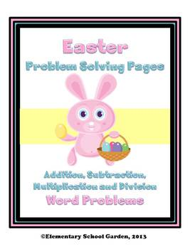 Easter Math Problem Solving Sheets - Word Problems